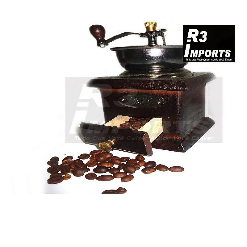 Moedor manual de cafe caixa de madeira marca importado  modelo madeira