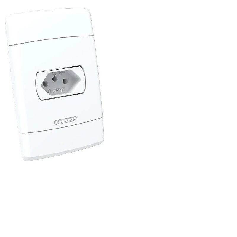 Tomada 10a   2x interruptores 1 tecla simples  marca enerbras linha neo sottile