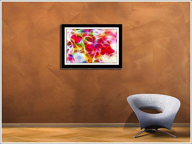 Quadro Com Poster Abstrato e Moldura  100 X 70 cm