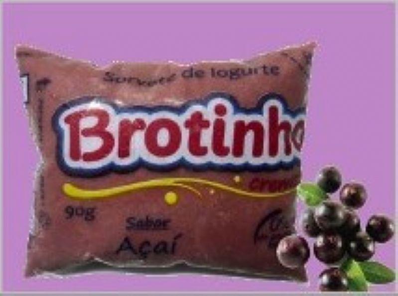 Sorvete de iogurte cremoso brotinho