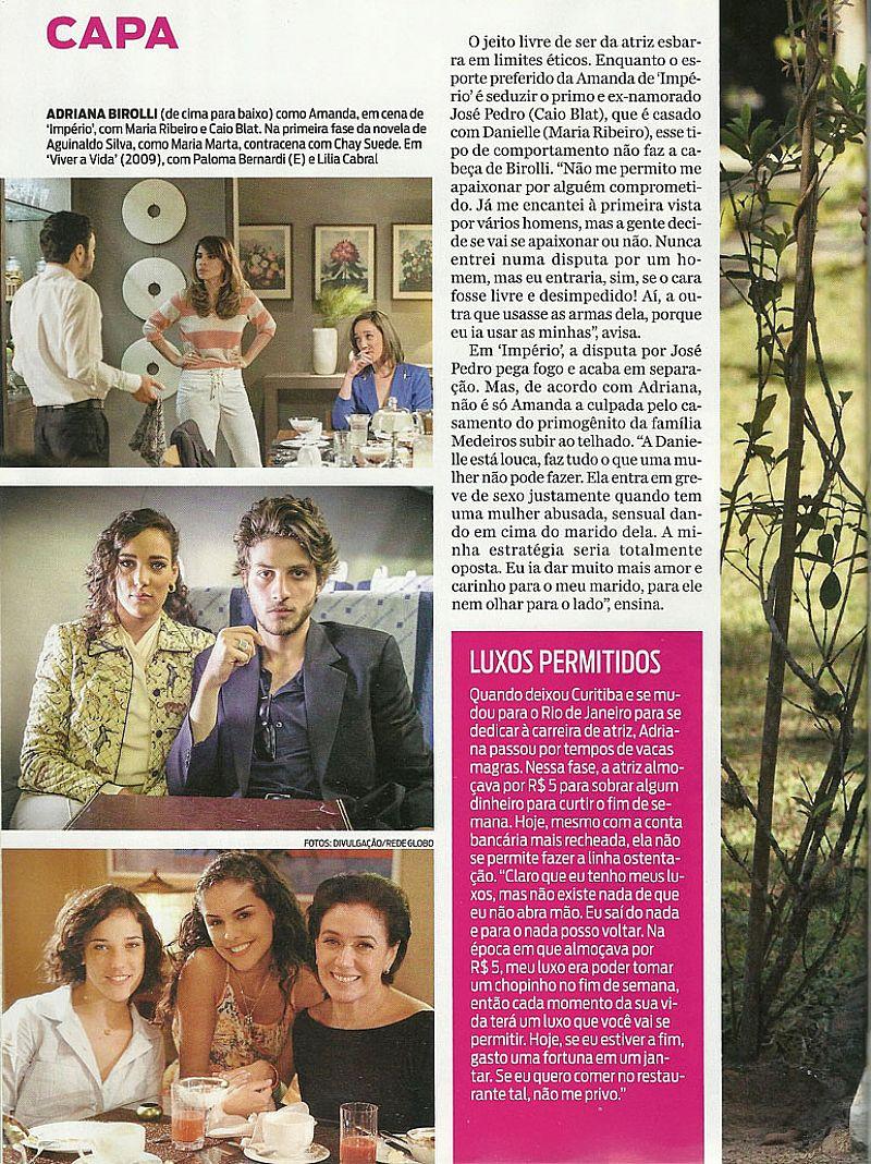 Adriana Birolli,   Amanda de Imperio,   Acredita Que Toda Forma de Amar Vale a Pena,   Revista Jae nº 160