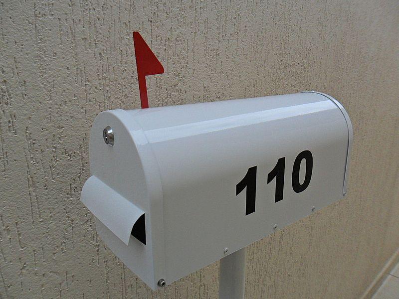 Caixa de correio americana para jardim e condominio em aluminio