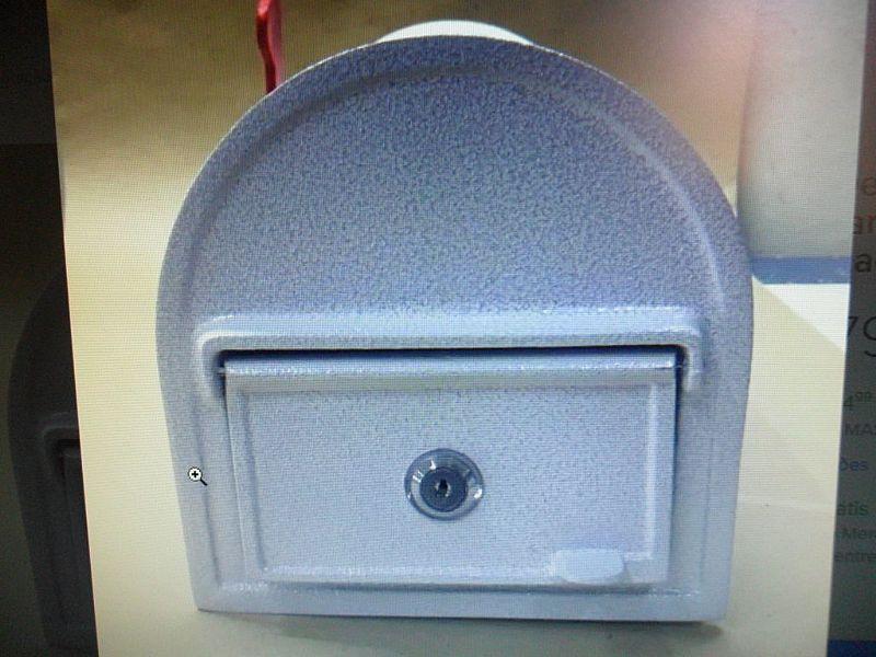 Caixa de correio modelo especial em aluminio fundido