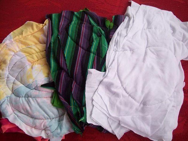Estopas - retalhos - panos - limpeza - sacos alvejados