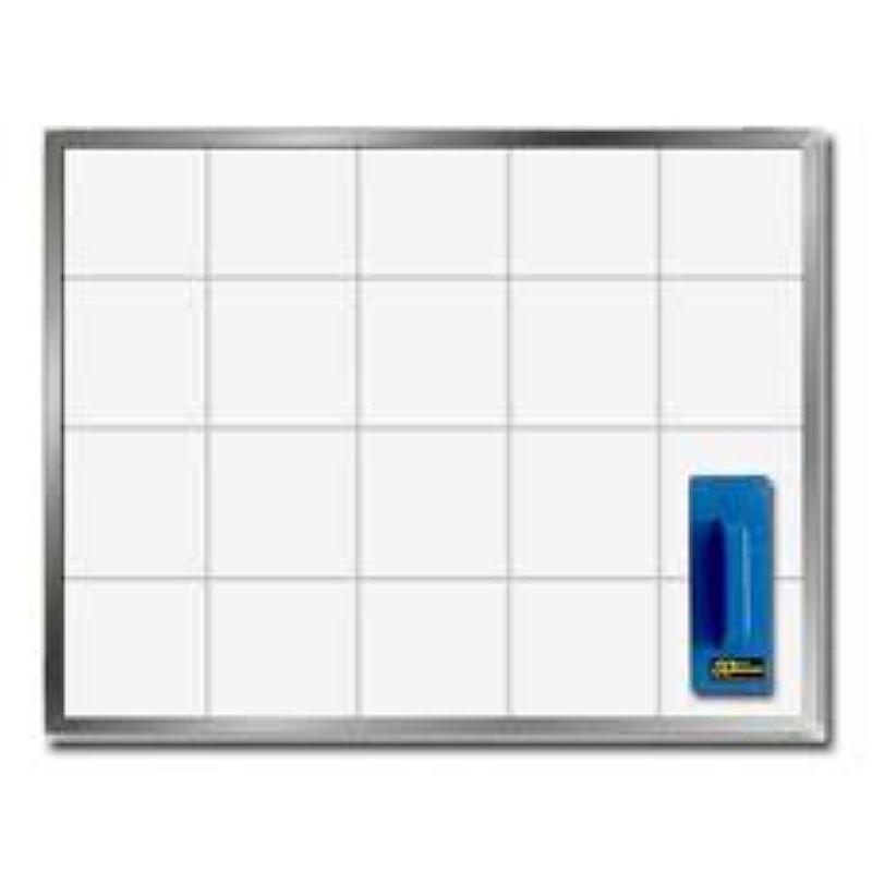 Quadro branco aluminio 90x120