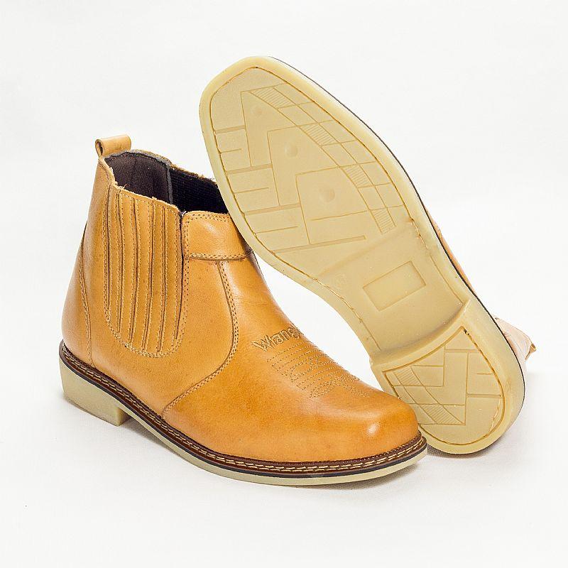 Botina bota country wrangler rodeio couro legitimo