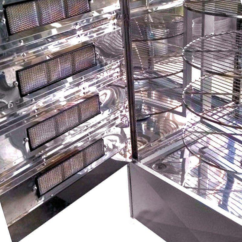 Maquina de assar frango giratoria 160kg