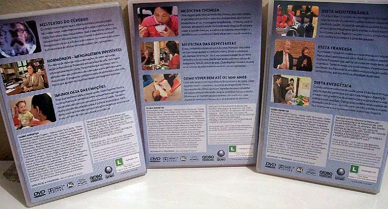 Vendo colecao saude e nutricao globo reporter - 3 dvds originais