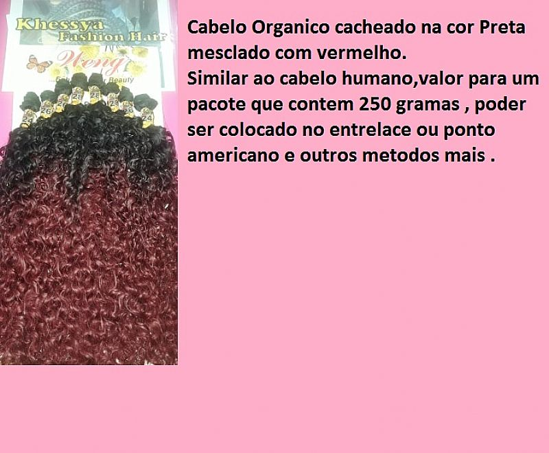 Cabelos orgânico cacheados