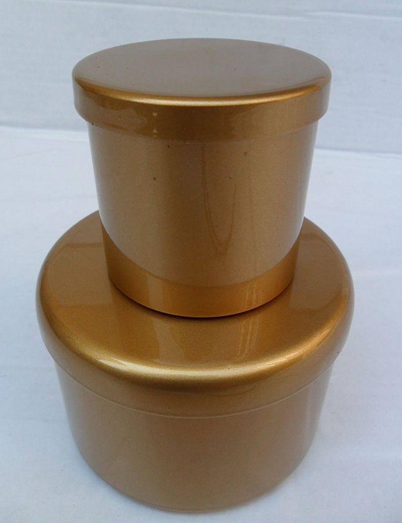 Lata de Aluminio Dourada 14 x 4 cm
