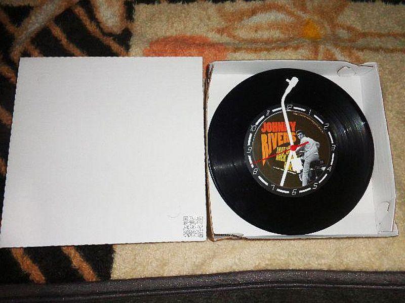 Relogio decorativo no disco de vinil varios temas