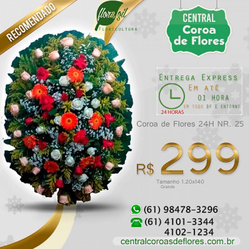 Central (61) 41o1-3344 coroas de flores 24h brasilia-df