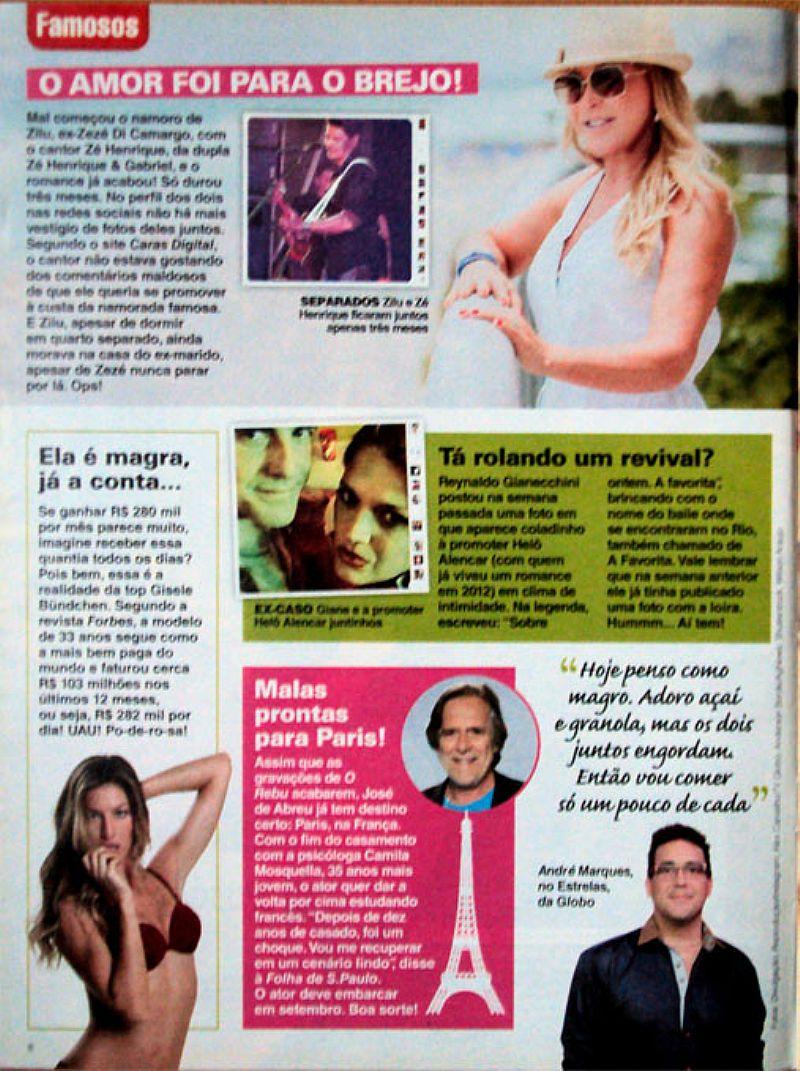 Incansavel,  So Da Ela,  Dois Filmes,  Dois Programas,  Revista Viva Mais nº 773