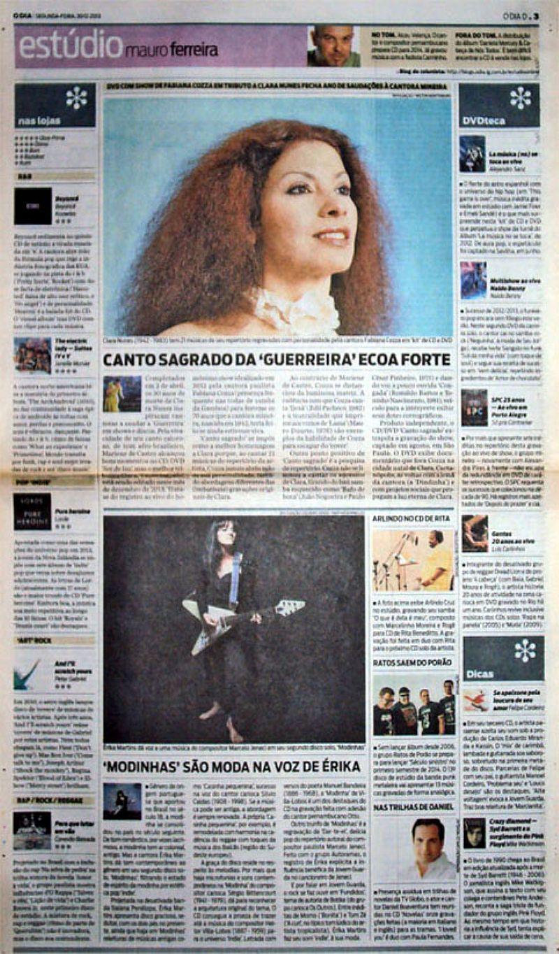 LP Clara Claridade,   Lancado Pela Emi Odeon 1975,   Canto Sagrado e Cantora Érika