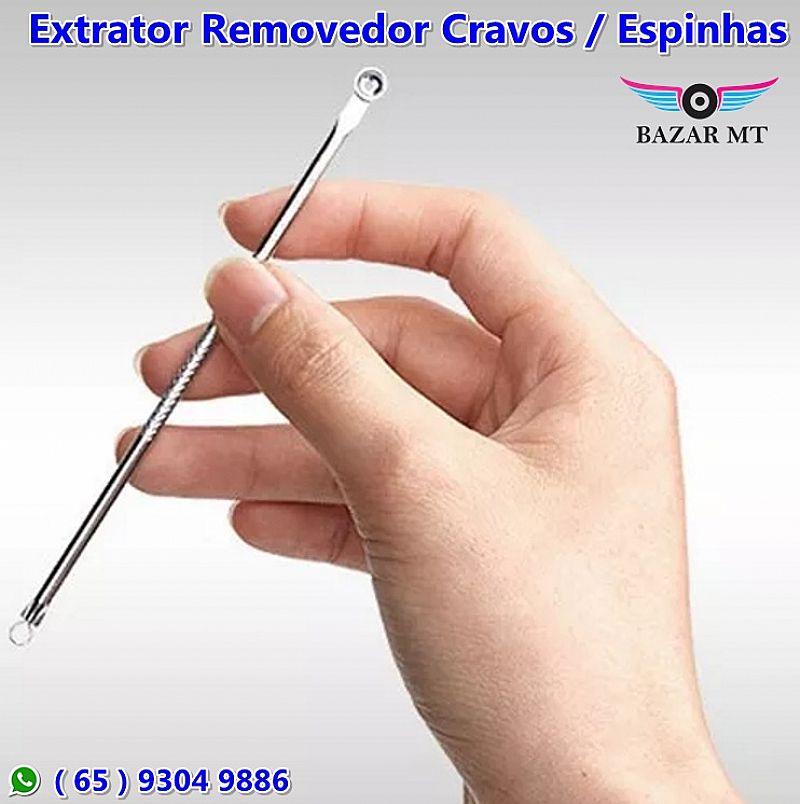 Bazar mt - removedor profissional acne espinha cravo extrator inox ( cuiaba )