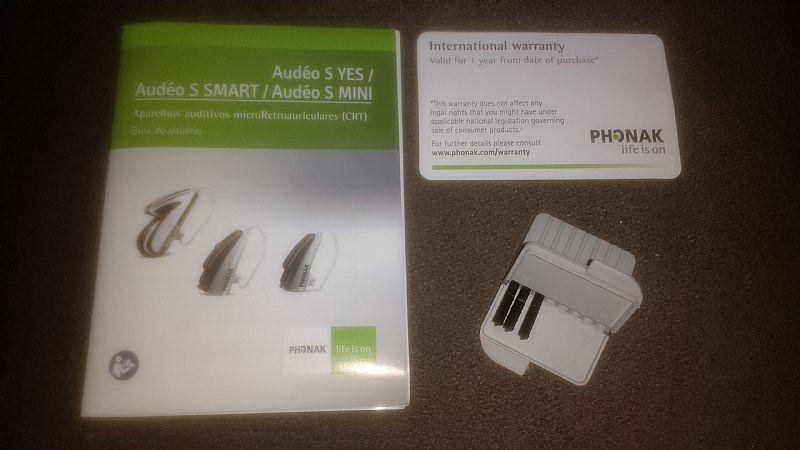 Aparelho auditivo Modelo: Audeo S Smart III