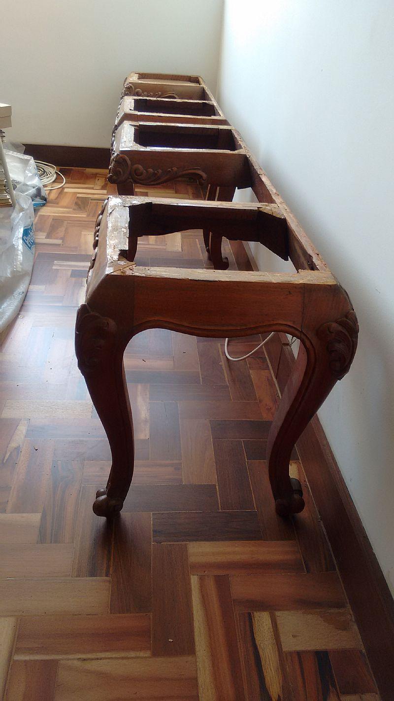 Base para aparador em madeira macica
