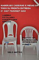 MESAS E CADEIRAS BRANCA POLTRONA OU BISTRO  PVC 140 KG