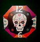 Relogio de Parede de Caveira Mexicana em BsB