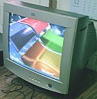 Monitor Crt Tubo Marca Hp Tela 17  Com Base Osasco