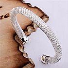 Bracelete graos aberto 925 sterling silver