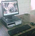 Computador completo hp .2 ghz hd 80 gb windows 7 lcd 17