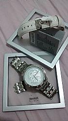 Rel�gio swatch retrograde yrs426 barato  semi novo com garantia