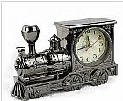 Relogio de mesa linha retr� - formato trem maria fumaca com alarme