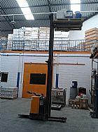 empilhadeira paleteira eletrica usada skan 1500 kg eleva ate 4200 mm