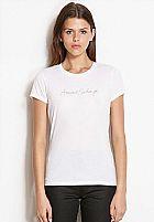 Camiseta Armani Exchange Womens Chain Logo Tee White