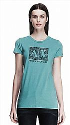 Camiseta Armani Exchange Womens Mirrored A|X Tee Blue Smoke