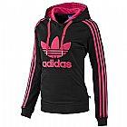 Moletom Adidas Women s Slim Hoodie Black Pink