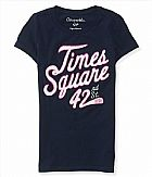 Camiseta Aeropostale Womens Times Square Applique Graphic T-Classic Navy