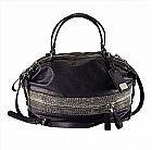 Bolsa armani exchange women s large zippered chelsea satchel true navy d5ba406