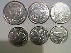 Serie  de  12  moedas : fauna e profissoes