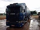 Scania 124 420 azul 6x4 todo original