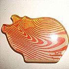 Escultura  porco - ima de geladeira