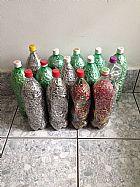 Colecao de aneis de latinhas 14 garrafas pets