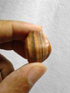 Agata listras natural para colecao 10 gramas