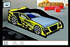 Cama infantil speedy carro amarelo / vermelho / branco - ler anuncio inteiro