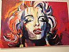 Painel tela marilyn monroe pintada a mao quadro arte moderna
