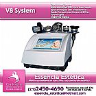 V8 System Lipocavitacao Radio Frequencia Endermoterapia Vacuo Fototerapia