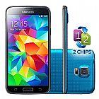 Smartphone samsung galaxy s5 duos g900md azul desbl 4g novo loja nf e garantia