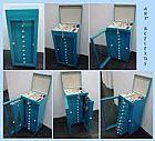 Moveis porta joias 10 gavetas forrados coloridos art reflexus
