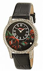 Relogio ed hardy antionette black watch