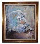 Quadro acrilico sobre tela opera de mulheres yara ures 1993