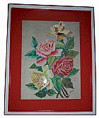 Quadro aquarela sobre cartao anos 50