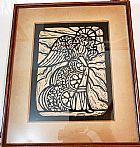 Desenho a nanquim de maria angelica