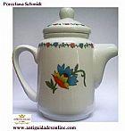 Porcelana Schmidt Bule com Motivo Floral