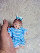 Mini bebe giovana artesanal reborn em polymerclay ooak